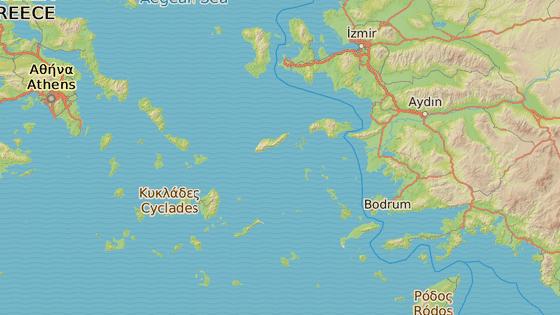 �eck� ostrov Leros le��c� nedaleko tureck�ho pob�e��