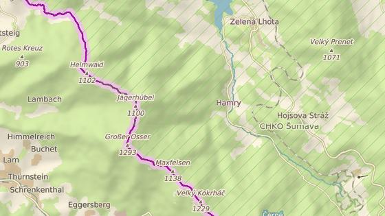 Muž se zranil na cyklostezce mezi Statečkem a Hamry.