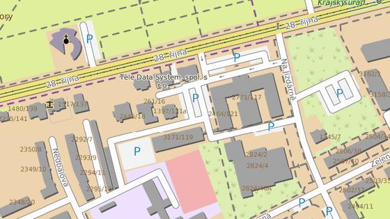 Grosmannova vila stojí u velmi frekventované ulice 28. října v Ostravě.