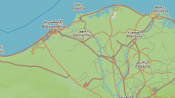 Nejdříve vybuchla bomba ve městě Tanta severně od Káhiry, o chvíli později v Alexandrii.