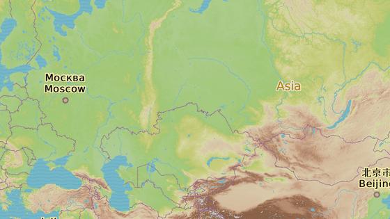 Vesnice Khut u hranic Mongolska