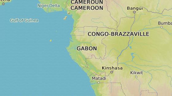 Gabon se nachází na západním pobřeží Afriky