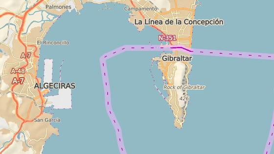 Gibraltar se nachází na jihu Španělska, od roku 1713 patří Velké Británii