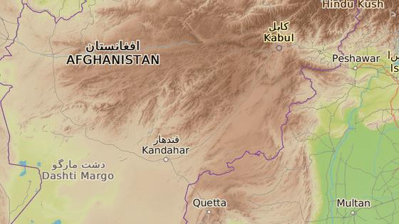 Centrum provincie Ghazní, ve které došlo k nehodě