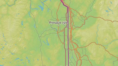 Presque Isle leží ve státě Maine na východě Spojených států, jen cca 50 kilometrů od kanadských hranic.