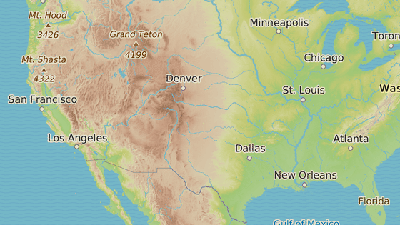 Místa s hlášenými požáry v Kalifornii