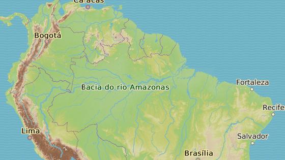 Město Manaus na severozápadě Brazílie
