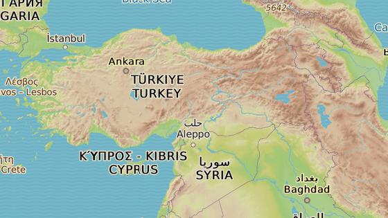 Şırnak se nachází na jihovýchodě Turecka