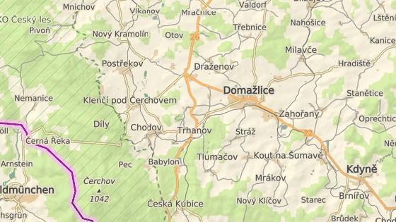 Střet se stal na silnici mezi Draženovem a obcí Babylon.