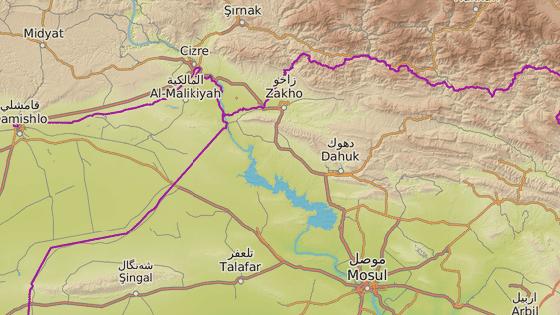 Tábor Chamisku na severu Iráku