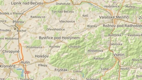 Kelčský Javorník se nachází nedaleko Bystřice pod Hostýnem.