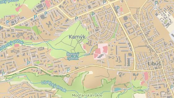 Mezi konečnou tramvají Levského (modrá) a ulicí Novodvorskou momentálně jezdí jediný autobusový spoj. V budoucnu bude konec nového úseku tramvajové trati v Libuši přímo u stanice plánované trasy metra D (červená).