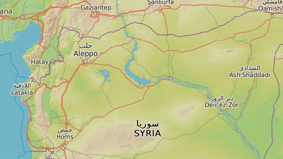 Rakká se nachází na severu Sýrie