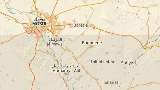 Město Karakoš (též nazývané Bachdída) se nachází na dohled iráckému Mosulu