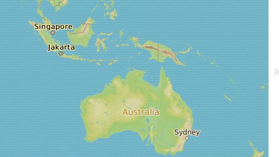 Město Humpty Doo v severní části Austrálie