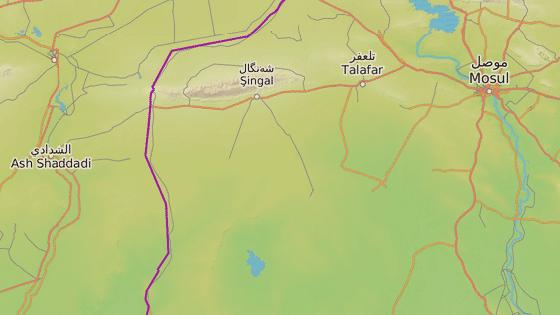 Irácko město Baadž nedaleko hranic se Sýrií