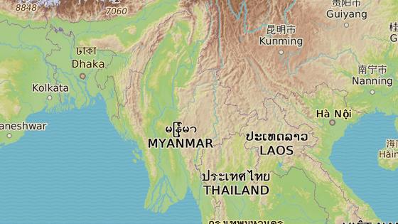 Drogy z Barmy často míří do sousedních států, nejčastěji Bangladéše a Číny