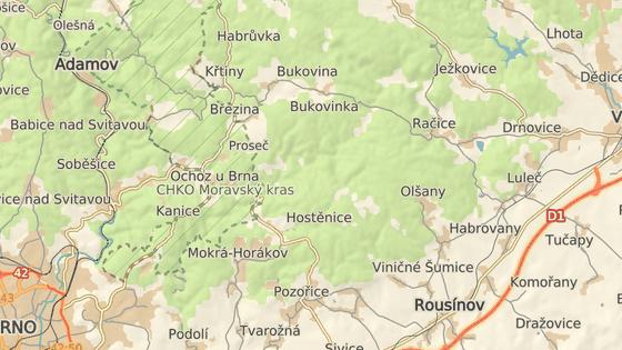 Hasiči likvidují požár u Hostěnic na Brněnsku.