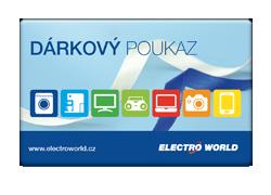 Dárkový poukaz ELECTRO WORLD v hodnotě 500 Kč
