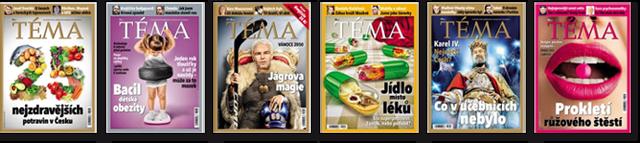 Titulní strany časopisu TÉMA