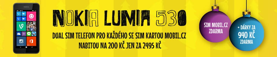 V�no�n� nab�dka Nokia 530 + SIM za 2495 K� s d�rky