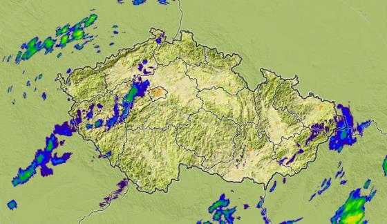 Radarový snímek srážek